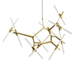 Wholesale 19 tube - Free shipping American Creative branch dining room chandelier chandelier herringbone tube simple modern personality branch Pendant LLFA