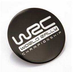 Wholesale Wrc Car Stickers - 4pcs Car Emblem Wheel Center Cover Caps Sticker Badges Emblems Aluminum Sticker For Spider-man WRC MS RS VXR