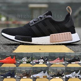 Wholesale Nice Cheap Shoes - Cheap NMD Runner R1 Primeknit OG Black Triple White Nice Kicks Circa Knit Men Women Running Shoes Sneakers Originals Classic Casual Shoes