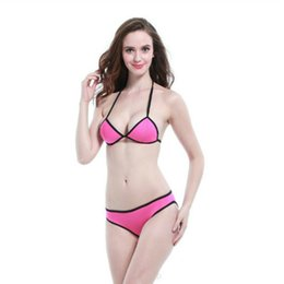 Wholesale Bikini Top Xs Push - 2017 New Sexy Halter Top Bikinis Women Swimwear Push Up Retro Female Swimsuit Bikini Set Beachwear Bathing Suits Biquini