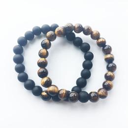 Wholesale Mens Stretch Bracelets - Wholesale New Fashion Lucky Yoga Natural stone beaded Bracelet Mens women Stretch Bracelets Charm Jewelry free shipping
