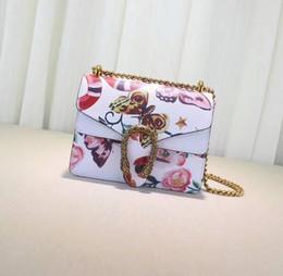 Bolsos blancos negros de la flor online-2017 nueva marca de moda bolso de las mujeres de lujo bolsos de diseño de las mujeres del bolso de las muchachas bolsos de hombro de cuero clásico totes blanco flor negro