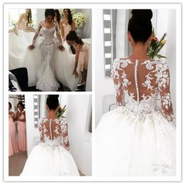 Wholesale Trailing Sequin - Middle East 2017 Wedding Dresses Mermaid Bridal Dresses Trailing Sexy Pearl Organza Sweetheart Bridal Wedding Gowns Luxury Dress