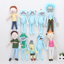 Wholesale Wholesale Children Stuffs - 20cm-30cm Rick and Morty Happy Sad Meeseeks Stuffed Plush Toys Dolls kids toys For children Gift
