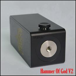 2019 god mod box Modellino meccanico Hammer Of God V2 Style 18650 - Mod meccanico nero oro 18650 Mod sigaretta elettronica sconti god mod box