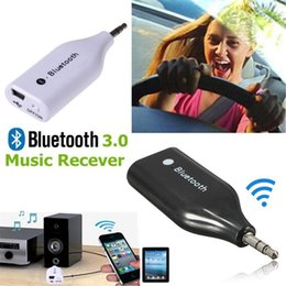 Wholesale Usb E6 - Mini BM-E6 Car 3.5mm AUX Audio Stereo Music Audio Wireless Bluetooth Receiver Adapter With USB Cable