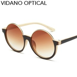Wholesale Cute Fashion For Men - Vidano Optical Luxury Cute Round Sunglasses For Woman and Man Sun Glasses Semi Rimless Eyewear Europe Fashion Designer Brand UV400