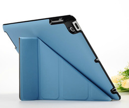 Wholesale Magnetic Cover For Ipad4 - DHL free 4 Shapes Stand Design Magnetic Leather for apple ipad 4 ipad 3 ipad 2 Case Smart cover for iPad4 tablet case Utrathin Fashion
