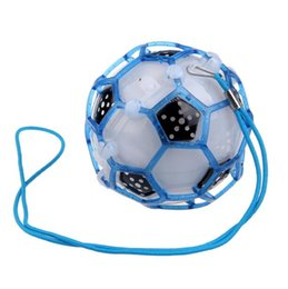 Wholesale Flashing Bouncing Kids Balls - Flash Football Ball Baby Toys LED Light Flashing Bounce Ball children creative dancing bouncing ball Kids Gift Children'Day Christmas