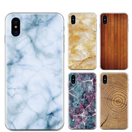 Wholesale Iphone Covers Rubber Skin Gel - Marble Rock Stone Wood Wooden Pattern Soft TPU Silicone Case For iPhone 7 Plus 6 6S 4.7 5.5 5 5S SE Gel Fashion Rubber Cell Phone Skin Cover