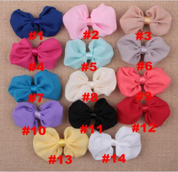 Wholesale Girls 4inch Bows Headband - Hair Accessories New coming 4Inch chiffon hair Bows Bows without clip girls hair accessories garments YH494