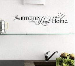 Wholesale Vinyl Wall Quotes For Kitchen - Home Wall Decor Black Kitchen Quotes Removable Mural Art Wall Sticker Diy Wall Decal