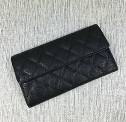 Wholesale american black caviar - 2017 Free Shipping New Hot sell women caviar classic fashion famous brand wallet womens caviar classic fashion famous brand purse #542