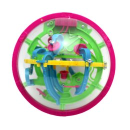 Wholesale Intellect Toys - Wholesale- Magical 3D Space Travel Intellect Ball 100 Barriers Balance Maze Game Puzzle Toy Kids Toys