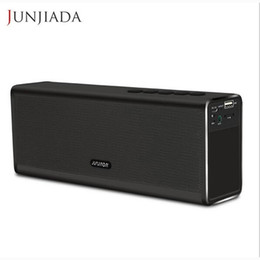 Wholesale Drop Shipping Power Bank - Wholesale- Super Bass 20W Bluetooth Speaker Power Bank Powerful Portable Computer Wireless Metal Speaker PK Piple S5 Bluedio BS-3 Drop Ship