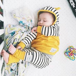 Wholesale Leggings For Newborn Boys - Wholesale- Newborn Baby Infant Boy Girl hooded hoodies +Leggings Girl Clothes Outfit Clothes New 2016 For Little Girl Twinset