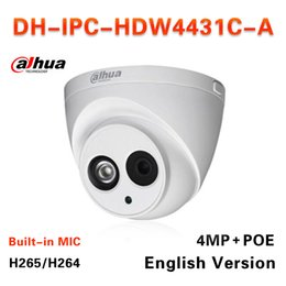 Wholesale Network Dome Security Ip Camera - Dahua H2.65 IPC-HDW4431C-A Built-in MIC HD 4MP IR 30m network IP Camera security cctv Dome Camera Support POE HDW4431C-A