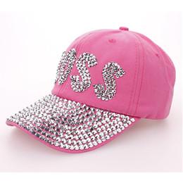 Wholesale Rhinestone Caps For Women - Fashion Washed Denim Simulation Diamond Letters Baseball Cap Jeans Rhinestone Lips Caps Snapback Hats Hip Hop Hats For Women