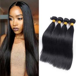 Wholesale 8inch straight human hair - 8A grade Brazilian virgin hair Straight 8inch-26inch 4pcs lot Unprocessed brazilian straight human hair silky straight thick bundles
