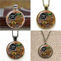 Wholesale Thanksgiving Led Necklace - 10pcs Led Zeppelin Steampunk Inspired Pendant Necklace keyring bookmark cufflink earring bracelet
