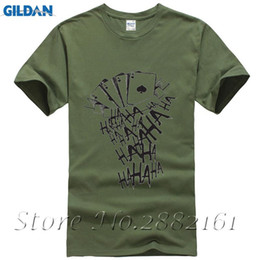 Wholesale tattoo sleeve t shirts men - Suicidal Command of the T-Shirt Men's Short Sleeve Funny Joker HAHA Harajuku Tattoo Print Men's T-Shirt Homme Cool T-Shirt