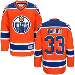 Wholesale Drop Cam - 33 Cam Talbot 2017 New Arrivals Mens Edmonton Oilers NHL Ice Hockey Orange Stitched Jerseys Free Drop Shipping lymmia