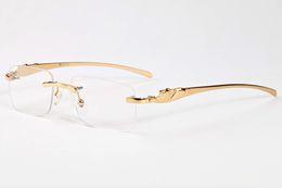Wholesale Plain Eye Glasses For Men - 2017 fashion sunglasses for men women brand designer metal legs semi rimless plain sun glasses unisex fashion buffalo horn glasses gafas de
