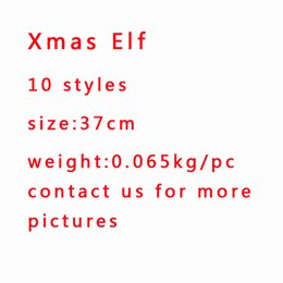 Wholesale Elves Toys - 100pcs 10Style Elf Plush toys Elves Xmas dolls For Kids Holiday And Christmas Gift