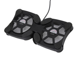 Portátil fresco stand online-Ventilador de Enfriamiento USB plegable Mini Pulpo Enfriador de Enfriador de Enfriamiento Soporte de Seguridad Ventiladores Dobles Para Portátiles de 7-15 pulgadas Portátil