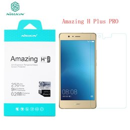 Wholesale Nillkin Screen Protector Wholesale - Wholesale-Huawei P9 Lite Screen Protector Nillkin Amazing H   H+PRO  PE+ Tempered Glass For Huawei Ascend P9 Lite