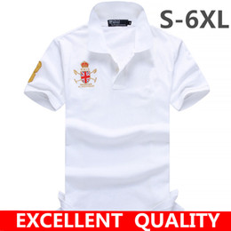 Wholesale Polo Shirt Size - Men's clothing brand Big Horse Embroidery Summer style short sleeve soild color cotton POLO shirts men 6XL plus size good quality Polo shirt