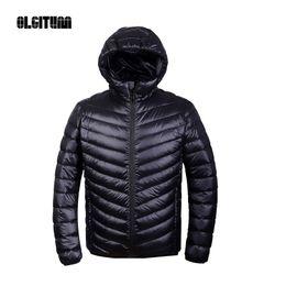 Wholesale Ultralight Parka - Wholesale- Winter men Ultralight Jacket 95% Duck Down Jacket Men Down Jacket Outdoors Collar Winter Parka Coat