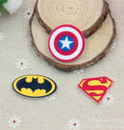 Wholesale Resin Flatback Christmas - New 30 pcs Cartoon the Avengers Planar Resin Flatback Craft Accessories Decor, Embellishment DIY Making T--8