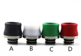 Wholesale Electronic Cigarette Mouthpiece Covers - TFV8 Baby Drip Tips Teflon 510 Mouthpiece Drip Tip Cover For Smok TFV8 Baby 510 Atomizers Electronic Cigarettes