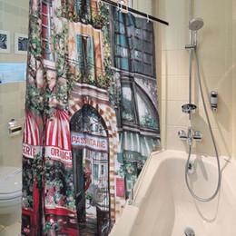 Vente en gros- HOT européenne 180x180cm Vintage Polyester Imperméable French Street Heavy Duty Bain Rideaux de Douche Salle De Bains Produits Décor À La Maison ? partir de fabricateur