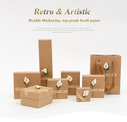 Wholesale Paper Presents - DHL Free Shipping Wholesale Retro Artistic Jewelry Box Present Gift Boxes for Bracelet Bangle Necklace Earrings Watch Case with Pillows