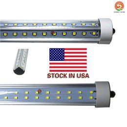 luces lada Rebajas Lado de 8 pies con clavija simple, tubo fa8, 72 W, forma de V, fila dural, lados dobles, 2835 tubos de luz led, 8 pies, led AC85-265V, DLC UL