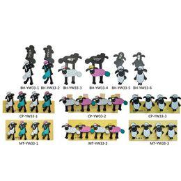 Wholesale Sheep Fashion - Cute Cartoon Children Accessories New Shaun the Sheep Wood Style Baby Brooch Fashion Kids badge Boys Girls Pin Brooch C139