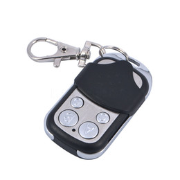 Wholesale Gate Transmitters - Wholesale- Mini 4 Channel 433MHz Wireless Electric Cloning Gate Garage Door Remote Control Auto ABCD Transmitter Remote Controls Keychain
