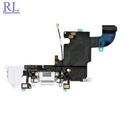 """Wholesale Iphone Ribbon Headphones - 10pcs lot New Charging Charger Port USB Dock Connector Flex Cable For iPhone 6S 4.7"""" with Headphone Jack Mic Flex Cable Ribbon"""