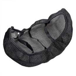 Wholesale cover for motorcycle honda - For Honda Yamaha Harley Elastic Motorcycle Seat Cover Moto Cushion Cover Universal Sunscreen Breathable Net Anti-slip