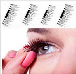Wholesale Soft Magnets - False Eyelashes Magnetic Lashes eye makeupTouch Soft Wear With No gule magnet eyelashes Perfect for everyday 4PCS=1pair free shipping