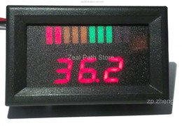 Wholesale Wholesale Motorcycle Batteries - 10 bar LED Digital Battery Charge Indicator with voltage indication For Golf Cart, motorcycle, boat.12V 24V 36V 48V 60V
