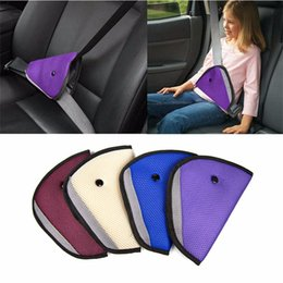 Wholesale Seat Belt Clip Children - for home Kids Baby Children Seat Safety Belts Anti le neck Triangle Durable Colorful Fixer Adjuster Clip Booster Strap Harness In Car