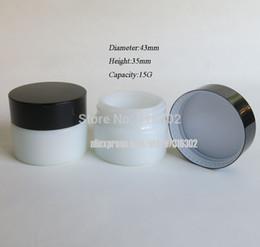 envo libre tarro de cristal blanco de cs lot g con las tapas negras envase de cristal g empaquetado cosmtico tarro de cristal de la crema g