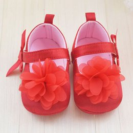Wholesale Very Cute Boys - Wholesale- 2015 Very Cute Red Flower Princess soft baby shoes for girl baby shoe 3 size to choose