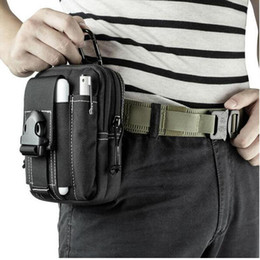 Wholesale Travel Pouch Waist For Men - Tactical Bag Molle Outdoor Travel Sport Bag Waist Belt Pouch for iphone 7 6 Samsung HUAWEI LG Under 6 inch Opp Bag