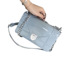 Wholesale Leather Handbag Materials - Wholesale- Famous brand handbag bag jelly 2016 new chain small shoulder bag handbag leather diagonal PVC materials of 6 colors