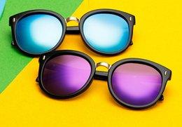 Wholesale Purple Picture Frames - 2017 New ladies women polarized sunglasses fashion color lens uv400 eyeglasses large picture frame sun glasses free shipping