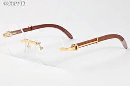 runde brillen mens Rabatt Mode Medusa Sonnenbrillen Für Herren Retro Runde Klare Linsen Rahmen Fahren Holz Sonnenbrille Für Frauen Designer Holz Brillen Brille